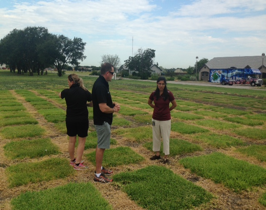 Texas A&M University's turf trial-plots facility was one of the first turf-tour ports of call.