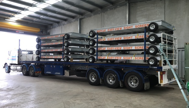Mentay Sight Screens being delivered to NSW